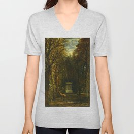 "John Constable ""Cenotaph to the Memory of Sir Joshua Reynolds"" Unisex V-Neck"