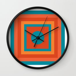 Southwestern Nested Color Squares Wall Clock