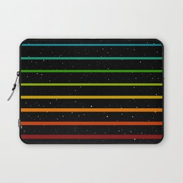 Rainbow stripes on starry sky Laptop Sleeve