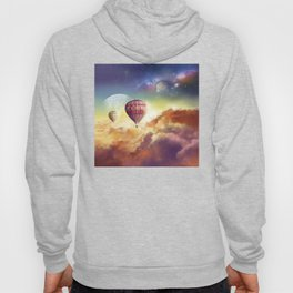 clouds,sky and ballons Hoody