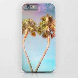 Lovers Palm Trees  {Rainbow Edition} with Light leak iPhone Case