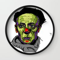 picasso Wall Clocks featuring P. Picasso by philip painter