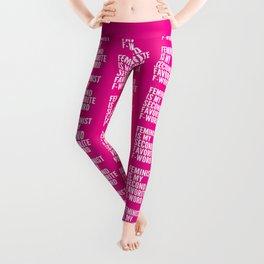 Feminist is My Second Favorite F-Word (Pink) Leggings
