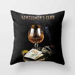 Gentlemen's Club Throw Pillow