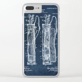 winslow caddy bag patent art Clear iPhone Case