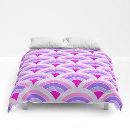 Rainbow connection - violet Comforters