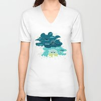 tfios V-neck T-shirts featuring Stars and Constellations by Risa Rodil