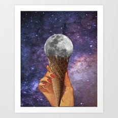 Moon ice cream Art Print