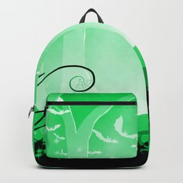 Dark Forest at Dawn in Emerald Backpack