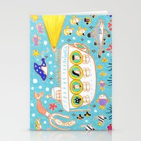 submarine Stationery Cards featuring submarine by AW illustrations