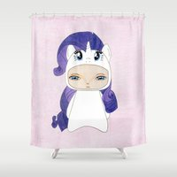 mlp Shower Curtains featuring A Boy - Rarity by Christophe Chiozzi