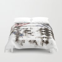 flag Duvet Covers featuring FLAG by TOO MANY GRAPHIX
