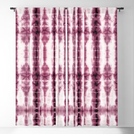Burgundy Tiki Shibori Blackout Curtain