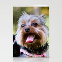 yorkie Stationery Cards featuring Darling Yorkie by IowaShots