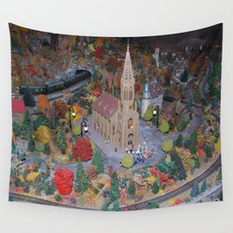 Trainyard setup Wall Tapestry