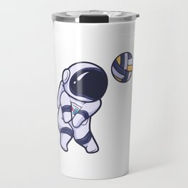 Astronaut Space Volleyball Sport Travel Mug