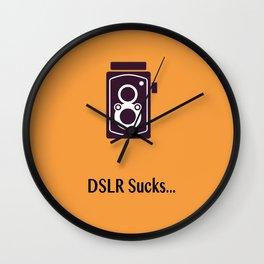 DSLR Sucks Wall Clock