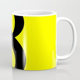8 (BLACK & YELLOW NUMBERS) Coffee Mug