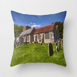 St Michael's Old Church East Peckham Throw Pillow