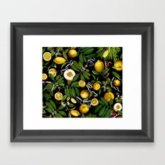 LEMON TREE Black Framed Art Print