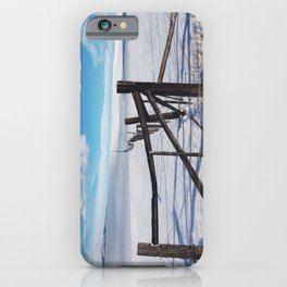 Montana Fence in Snow iPhone Case