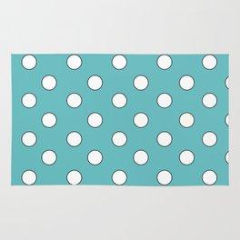 Blue Pastel Polka Dots Rug