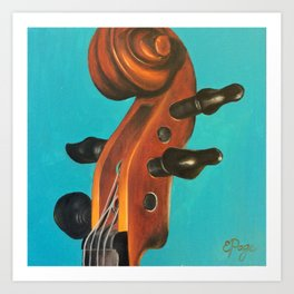 Violin Head Art Print
