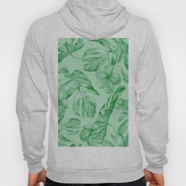 Green Jungle Island Tropical Palm Garden Hoody
