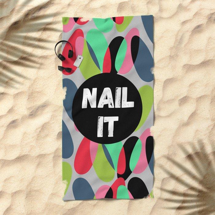 Nail It Beach Towel