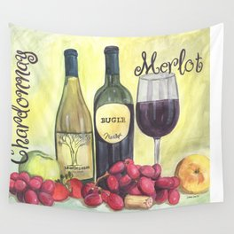 Watercolor Wine Wall Tapestry