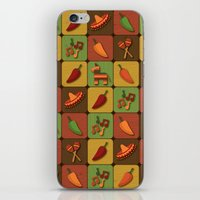 mexican iPhone & iPod Skins featuring Mexican Squares by Matt Andrews