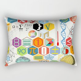 Math in color (white Background) Rectangular Pillow