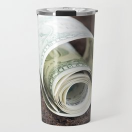 twisted American dollar Travel Mug