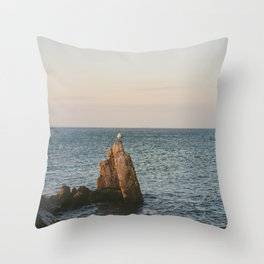 A Lone Seagull Throw Pillow