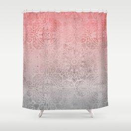 Oriental ornament pattern Rose Quartz Shower Curtain