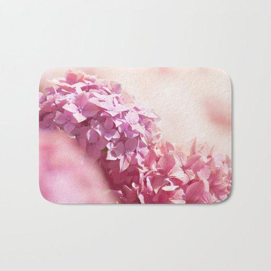 Dreamy pink hydrangea - Flower - Floral Bath Mat