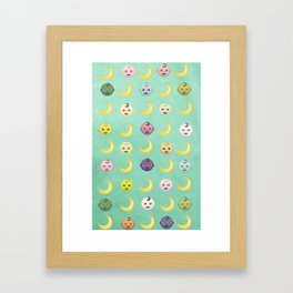 Pastel Moon Babies Framed Art Print
