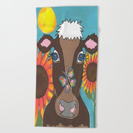 Brown Cow Beach Towel