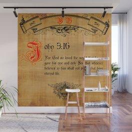 Bible Verse John 3:16 Wall Mural