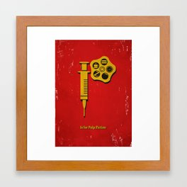 P is for Pulp Fiction Framed Art Print
