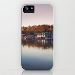 Dawn at the lake iPhone Case