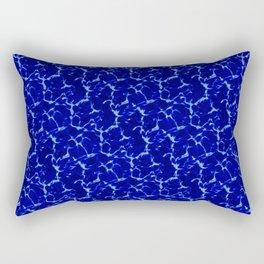 Hyperlink Deep Blue – '90s Water Graphics Rectangular Pillow