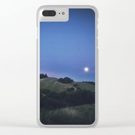 Super Moon Rising Clear iPhone Case
