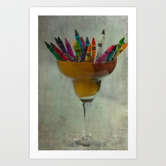 CRAYON LOVE : Addiction Art Print