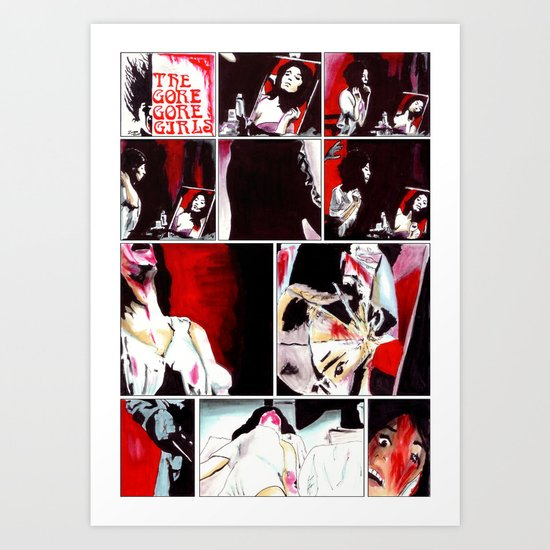 The Gore Gore Girls Art Print