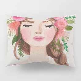 BEAUTIFUL FLOWER CROWN GIRL Pillow Sham