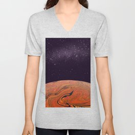 Space Abstract #2 Unisex V-Neck