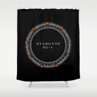 stargate Shower Curtains featuring Milky Way Gate by Paul Elder