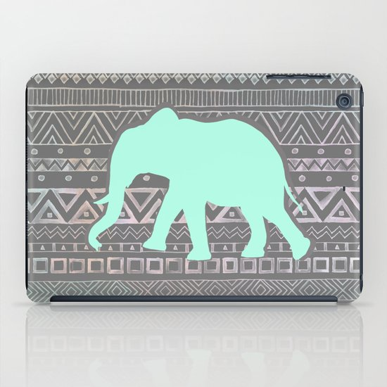 Mint Elephant  iPad Case