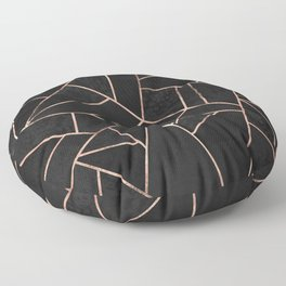 Velvet Black & Rose Gold Floor Pillow
